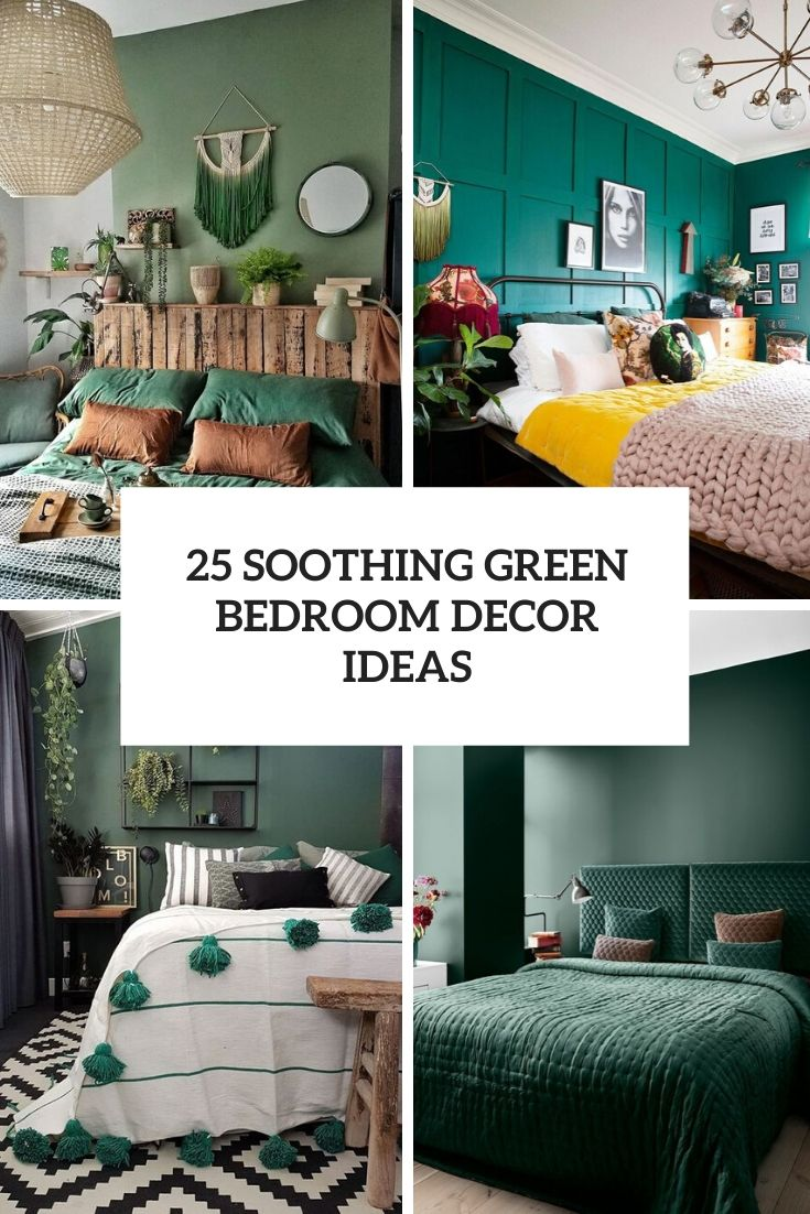 soothing green bedroom decor ideas cover