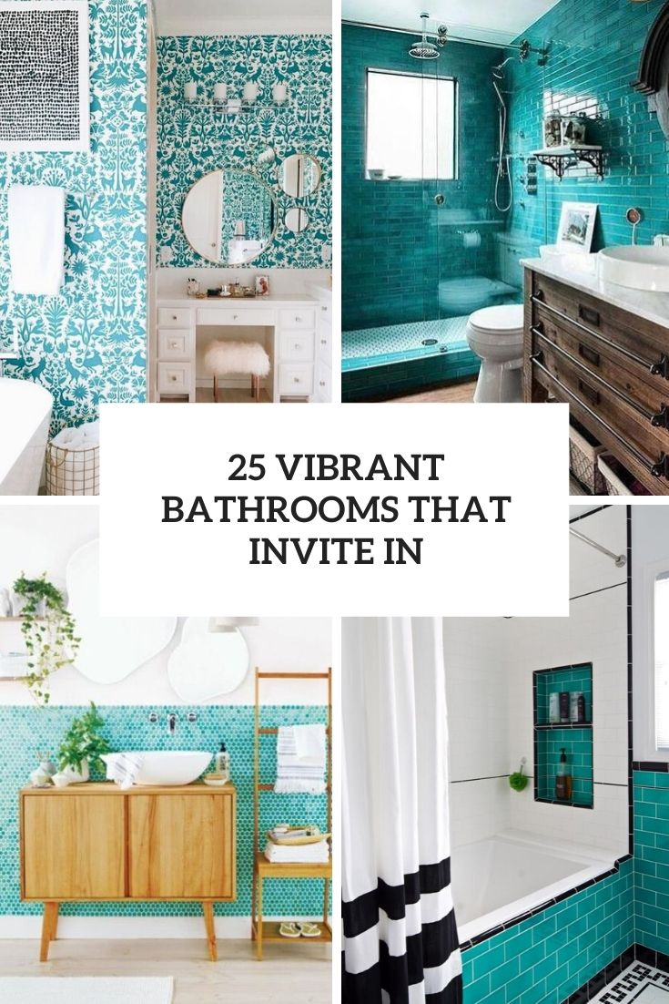 vibrant turquoise bathrooms that invite in cover
