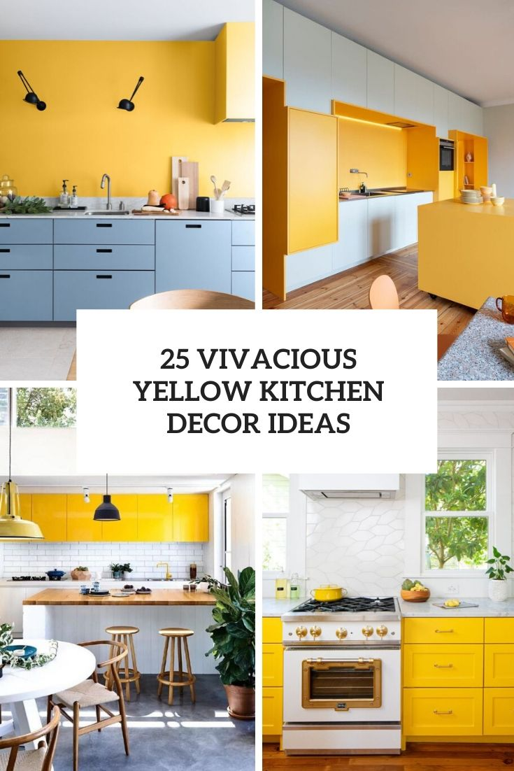 3 Vivacious Yellow Kitchen Decor Ideas - Shelterness