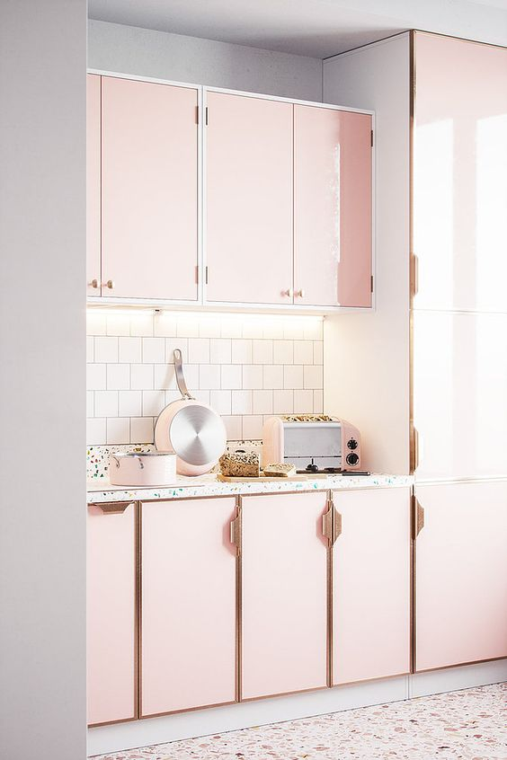 25 Pink Kitchens That Are Totally Adorable - Shelterness