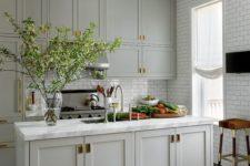 a classic grey kitchen design