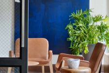 05 a bold nook, over which a super bright artwork in electric blue takes looks wow
