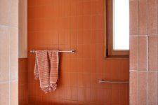 a cheerful bathroom design