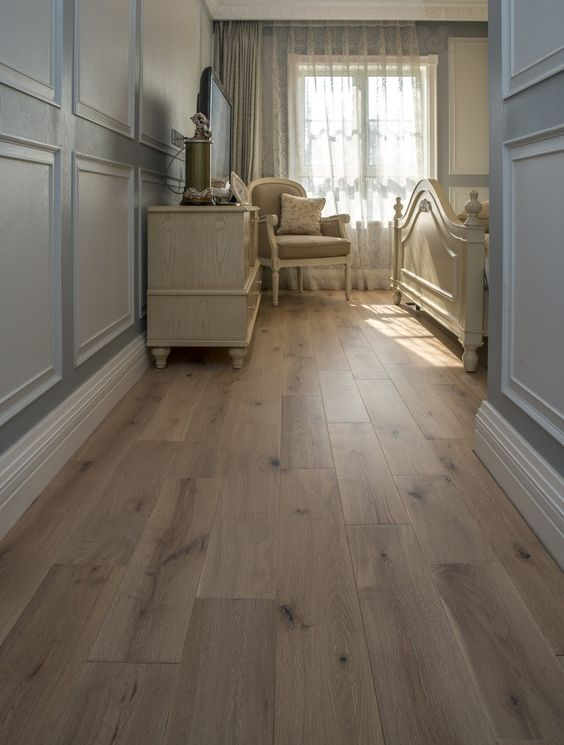 even if your space is rather dark, light wood flooring will brighten it up a bit