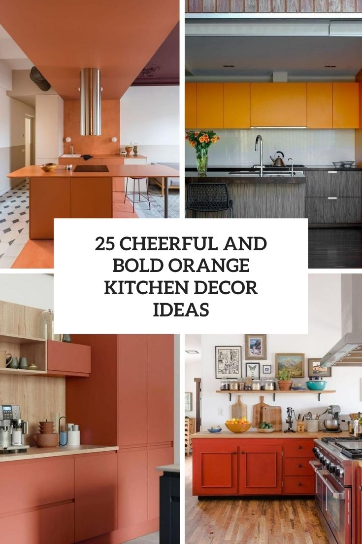 cheerful and bold orange kitchen decor ideas cover