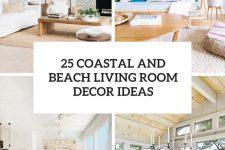 25 coastal and beach living room decor ideas cover