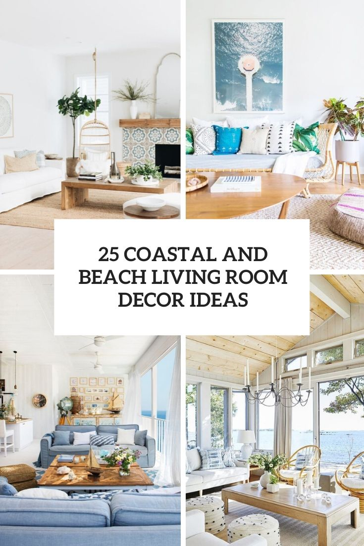coastal and beach living room decor ideas cover