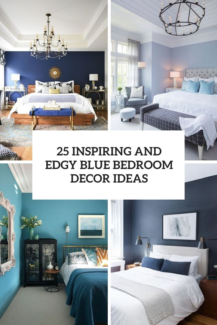 inspiring and edgy blue bedroom decor ideas cover