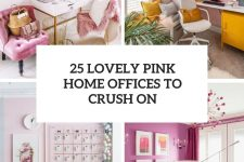 25 lovely pink home offices to crush on cover