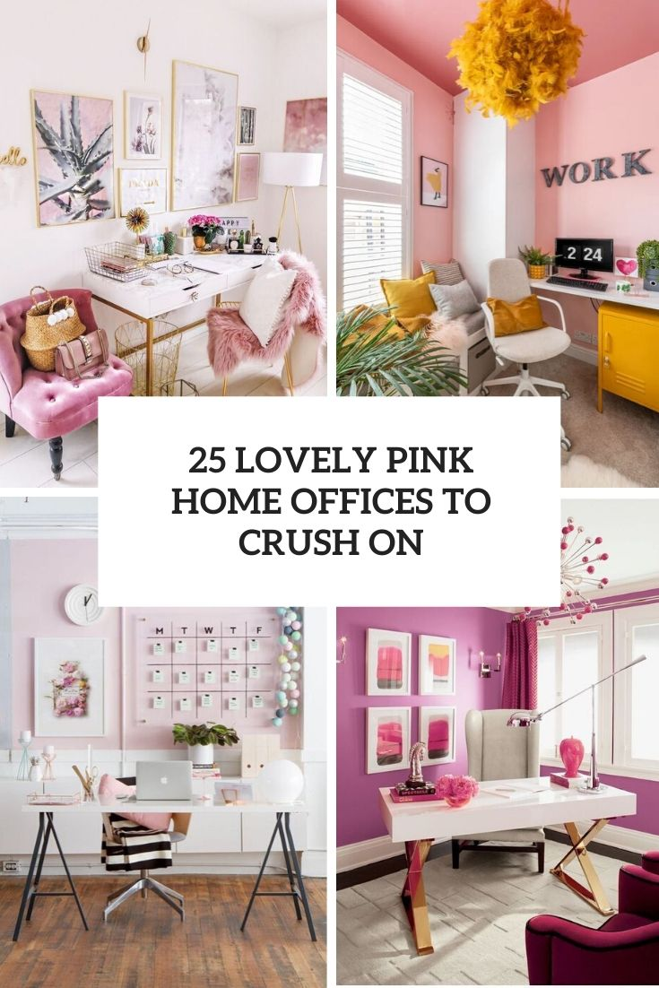 lovely pink home offices to crush on cover