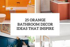 25 orange bathroom decor ideas that inspire cover