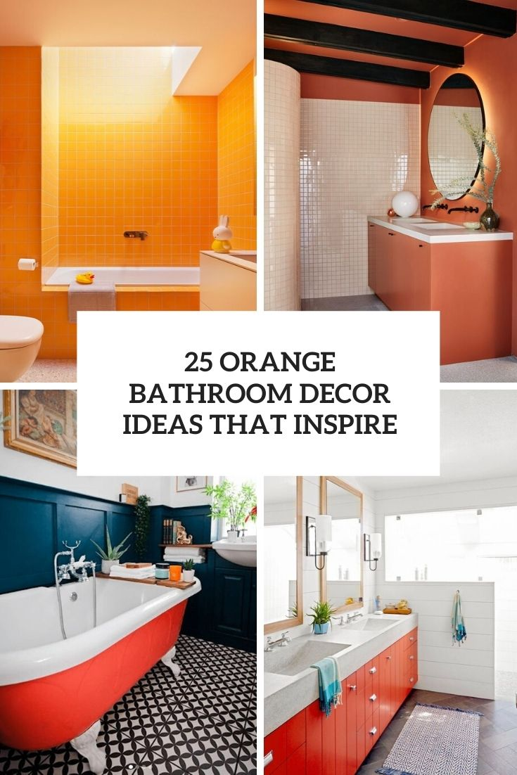 orange bathroom decor ideas that inspire cover