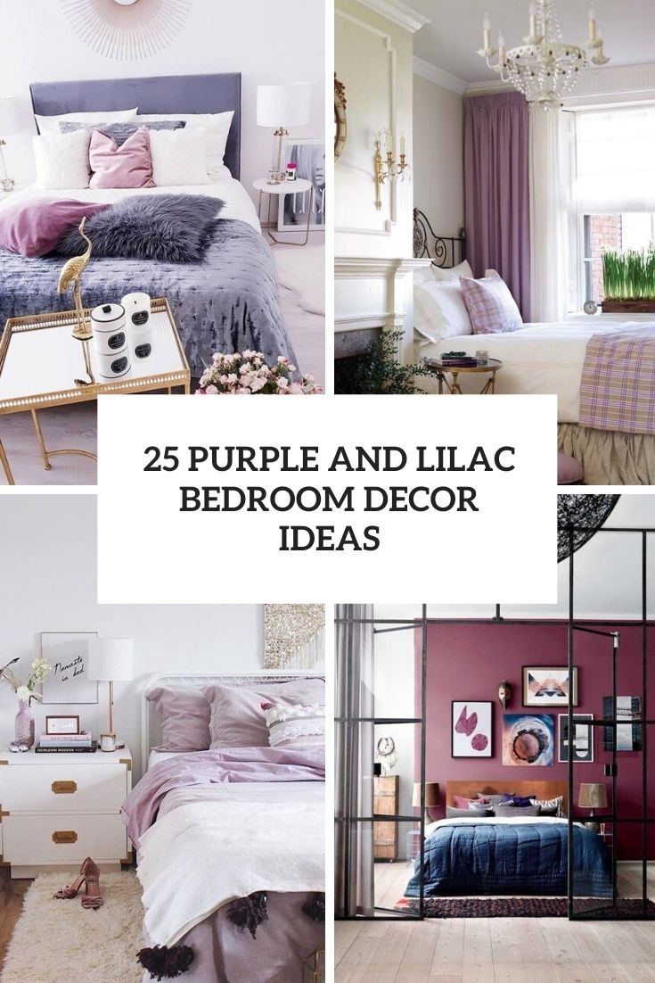 purple and lilac bedroom decor ideas cover