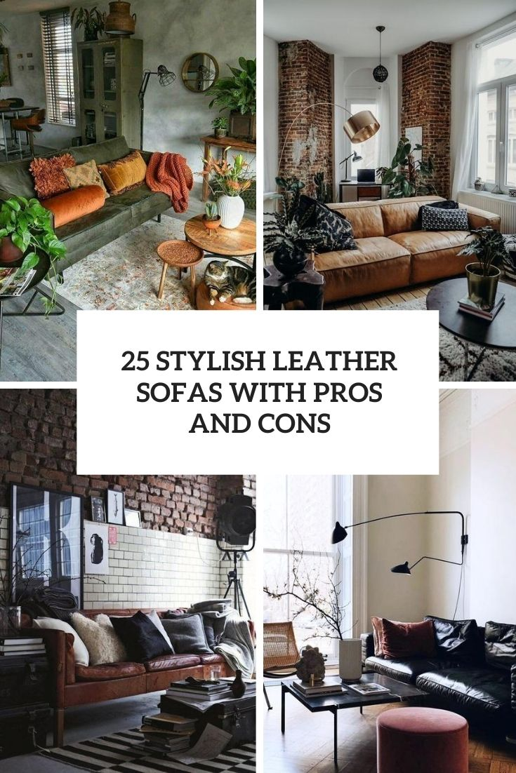 stylish leather sofas with pros and cons cover