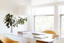 a modern neutral home office design