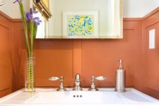26 burnt orange paneling will bring much color and a refined touch to your space and will make it ultimately chic