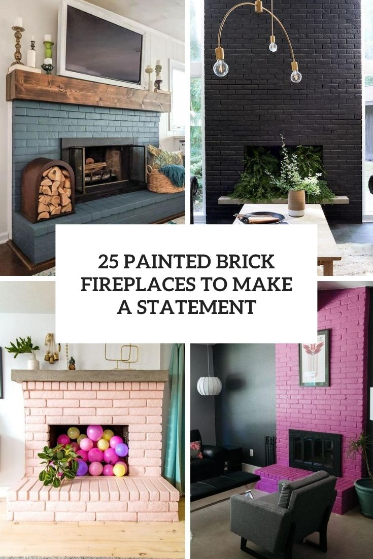 25 Painted Brick Fireplaces To Make A Statement
