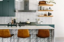 how to make subway tiles on a kitchen more interesting