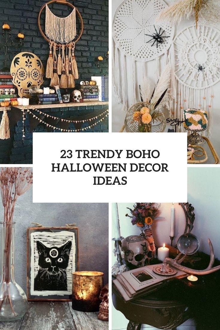 trendy boho halloween decor ideas cover