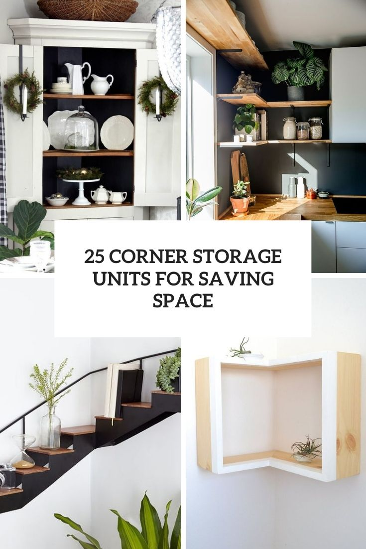 corner storage units for saving space cover