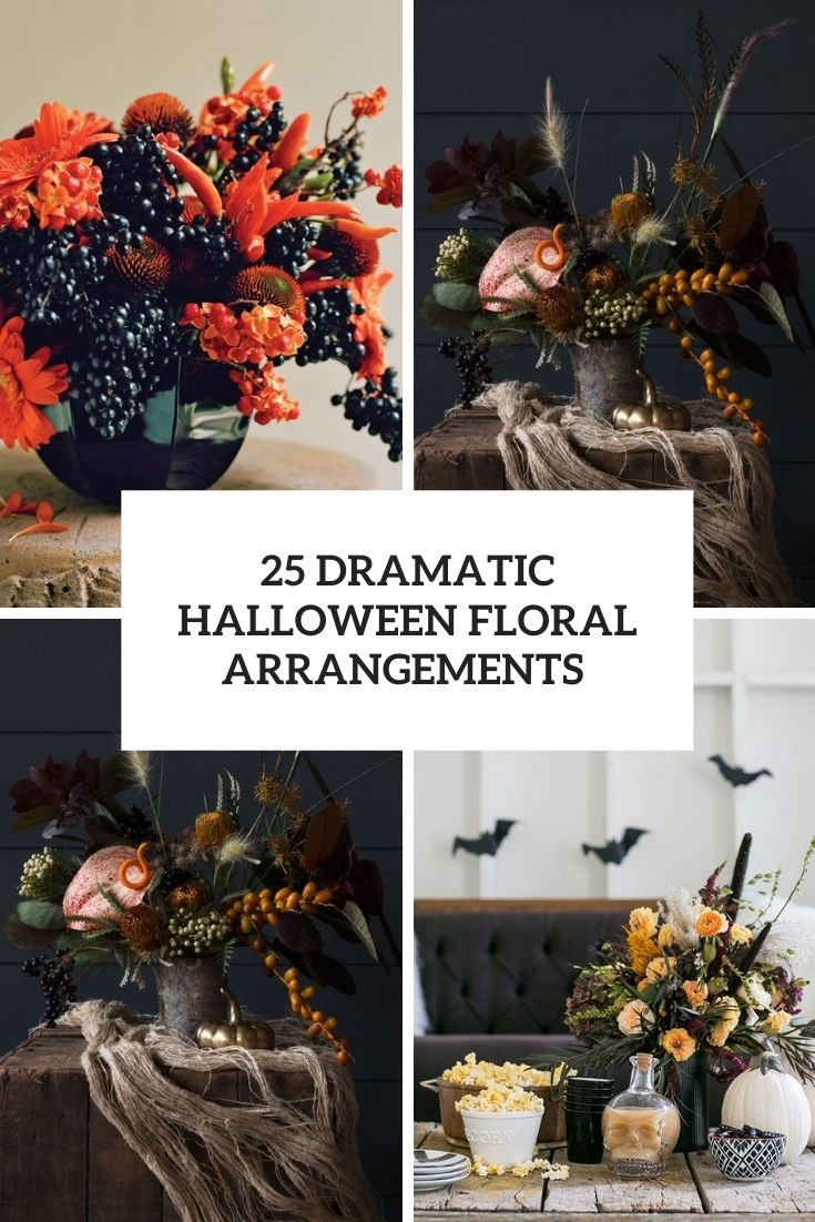 25 Dramatic Halloween Floral Arrangements Shelterness