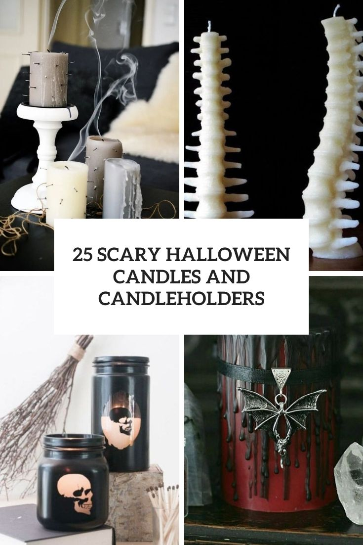 scary halloween candles and candleholders cover