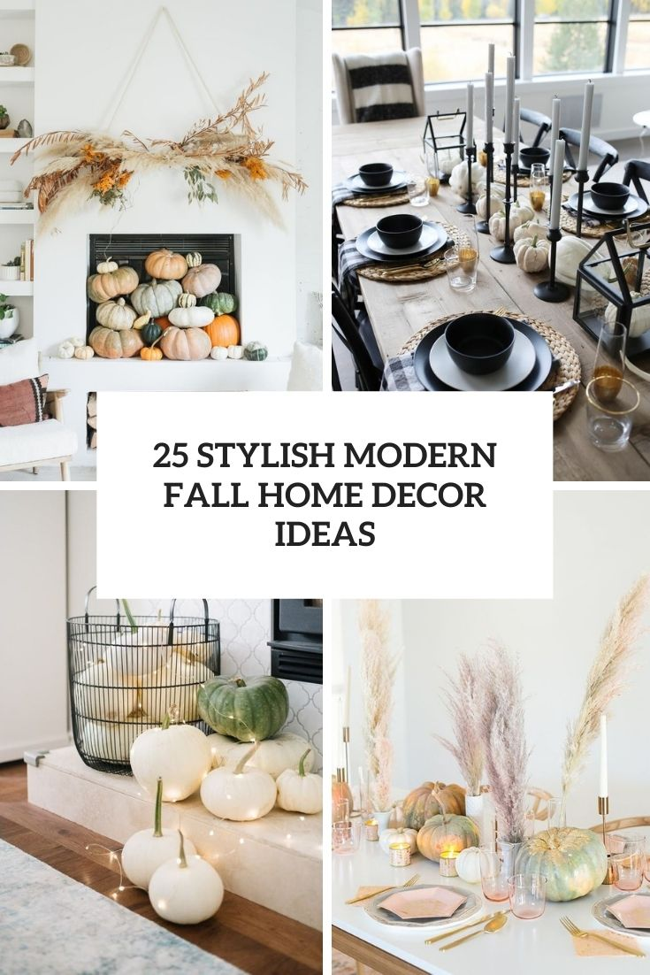 stylish modern fall home decor ideas cover
