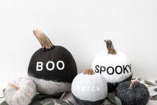 modern-looking halloween pumpkins you could DIY