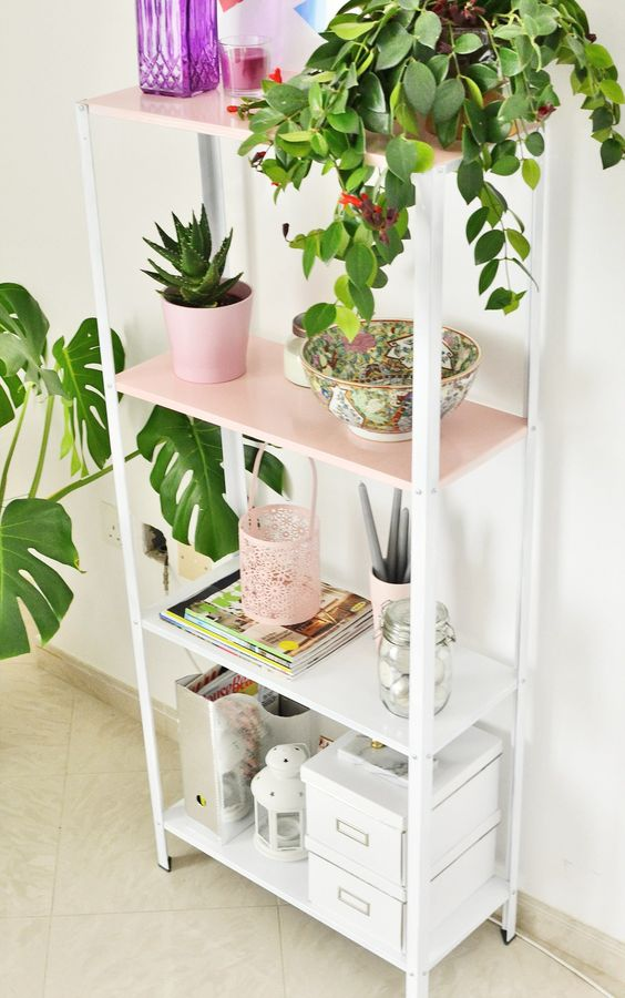a cute Hyllis hack with white and pink parts is an ideal pastel piece for a girlish space