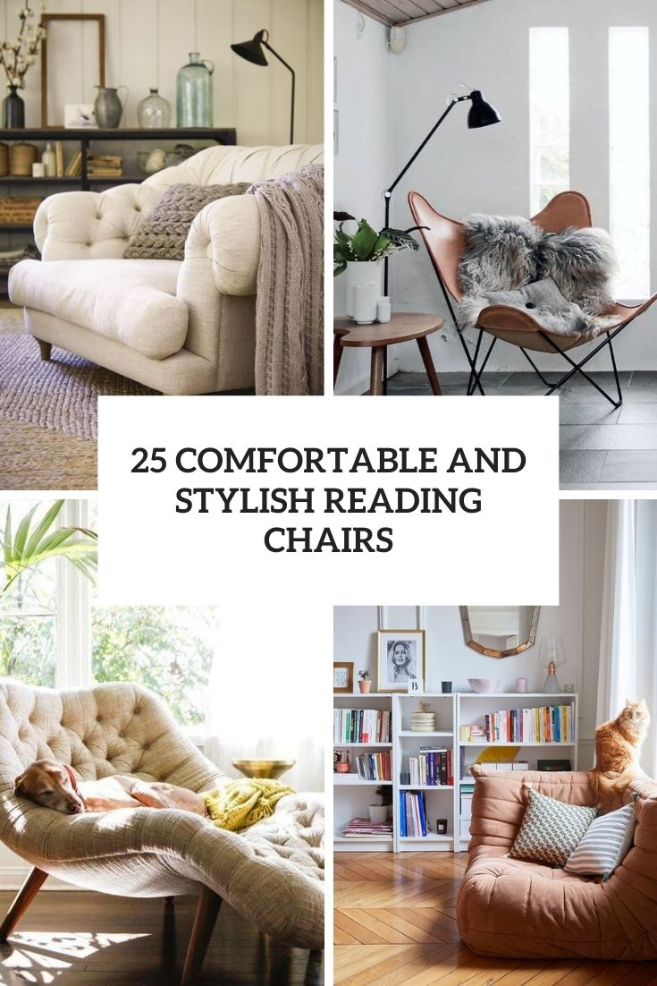 comfortable and stylish reading chairs cover