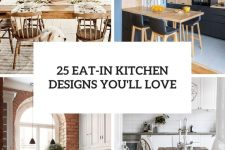 25 eat-in kitchen designs you'll love cover