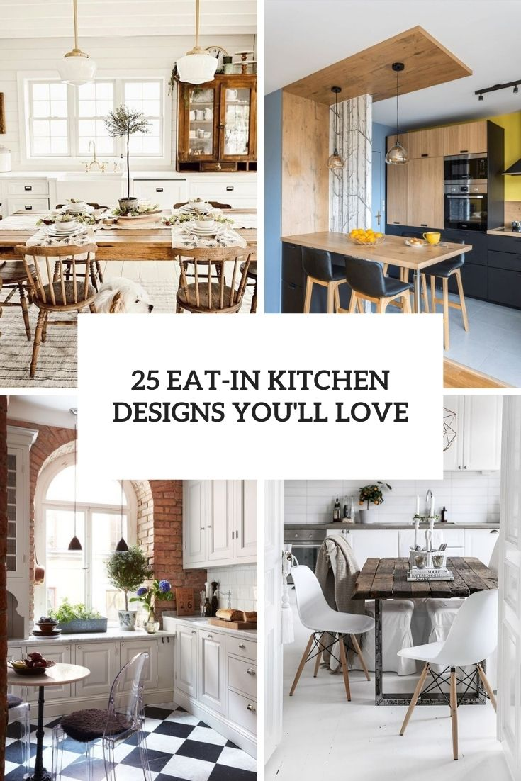25 Eat-In Kitchen Designs You'll Love