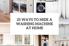 25 ways to hide a washing machine at home cover