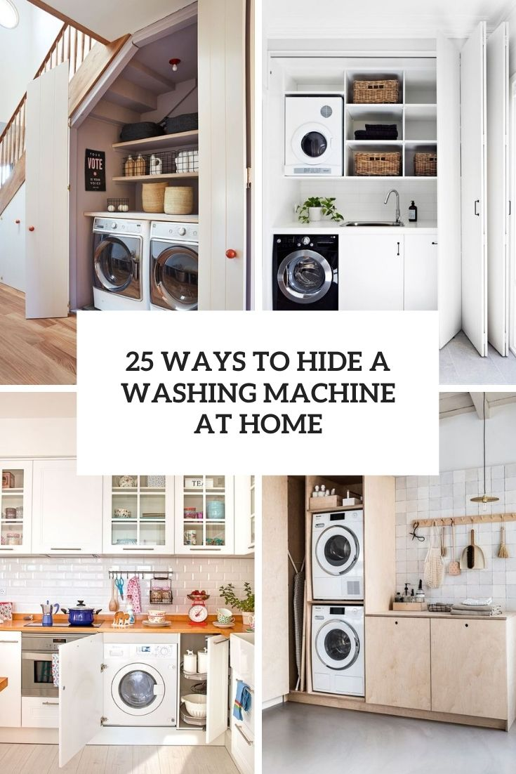 ways to hide a washing machine at home cover