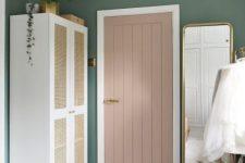 a new wardrobe using an IKEA Platsa carcass, Sannidal doors and cane webbing will bring relaxed vibes