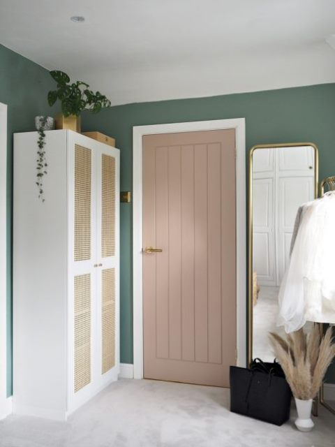 a new wardrobe using an IKEA Platsa carcass, Sannidal doors and cane webbing will bring relaxed vibes
