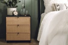 an IKEA Rast chest of drawers redone with some cane will be a stylish nightstand for a modern bedroom