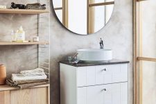 07 a Hemnes sink cabinet updated with new white block patterned fronts looks amazing, modern, stylish and very fresh