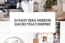 24 easy ikea mirror hacks that inspire cover