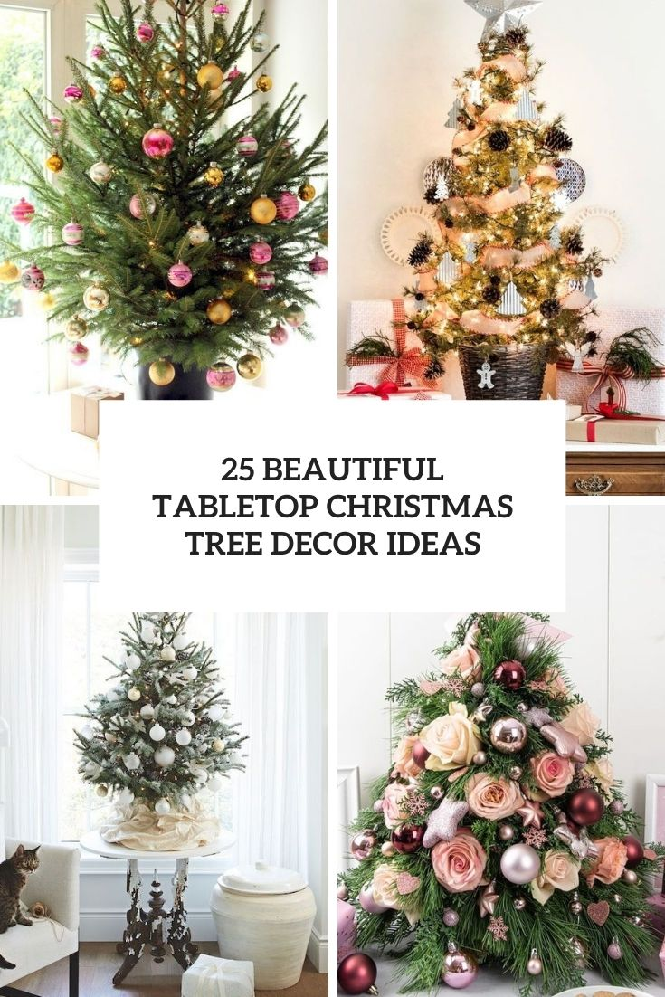 beautiful tabletop christmas tree decor ideas cover