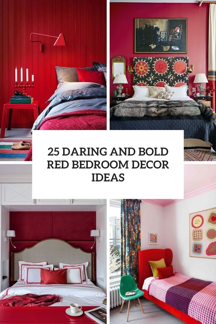 daring and bold red bedroom decor ideas cover
