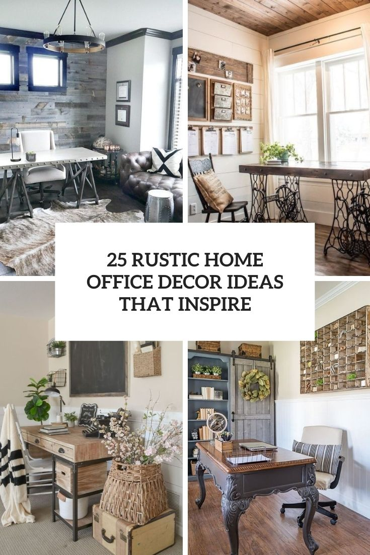 rustic home office decor ideas that inspire cover