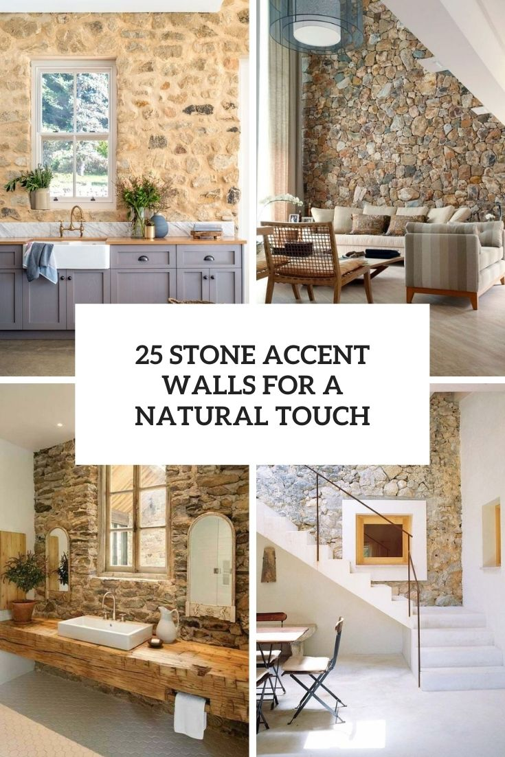 stone accent walls for a natural touch cover