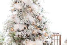 gorgeous modern flocked christmas tree decor