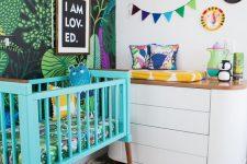 a bold-looking tropical nursery design