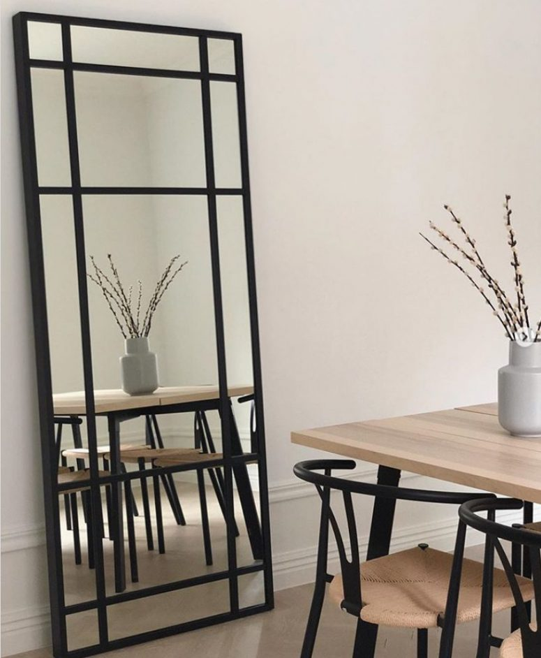 an IKEA Hovet mirror hacked to give it an industrial look is a bold and fresh idea to rock