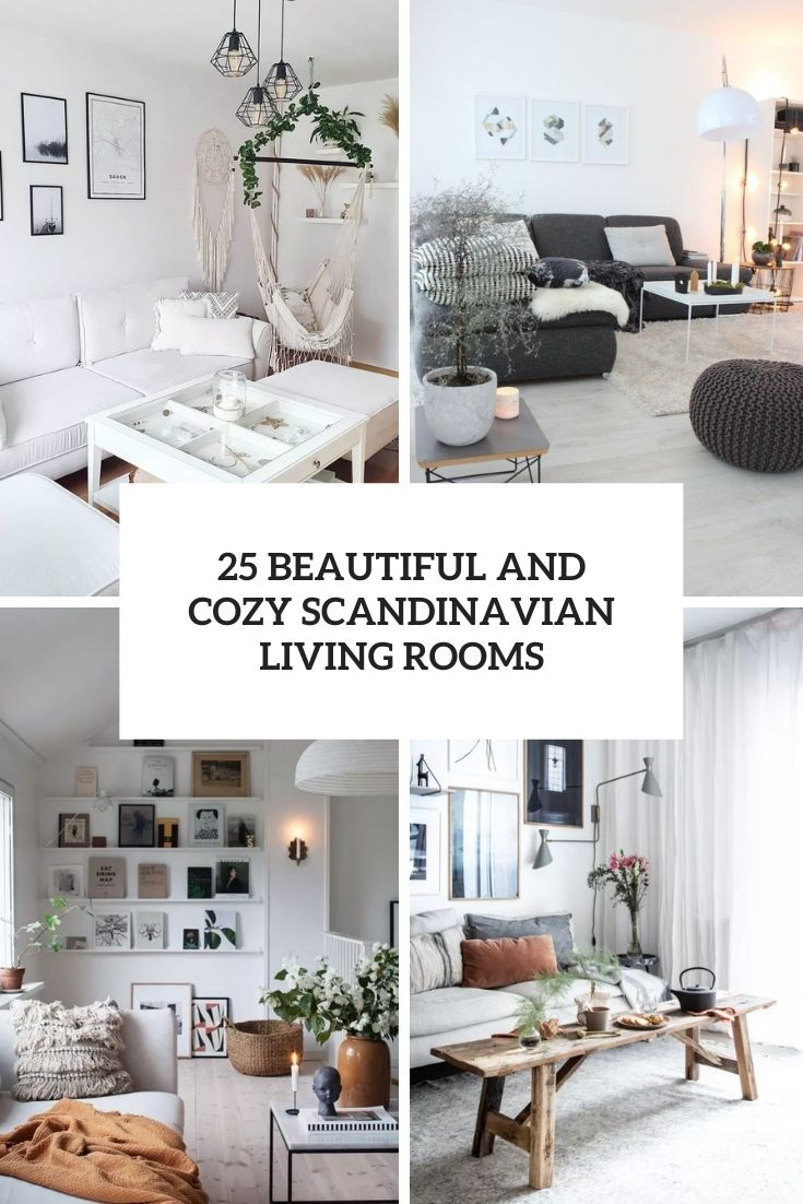25 Beautiful And Cozy Scandinavian Living Rooms