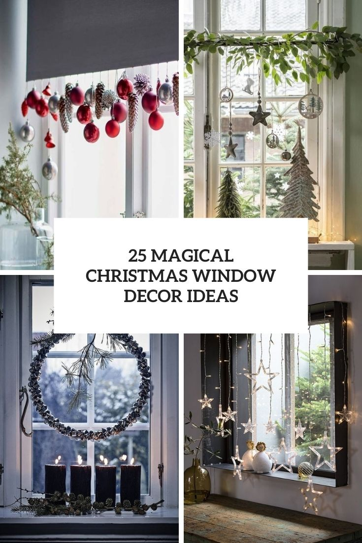 25 Magical Christmas Window Decor Ideas