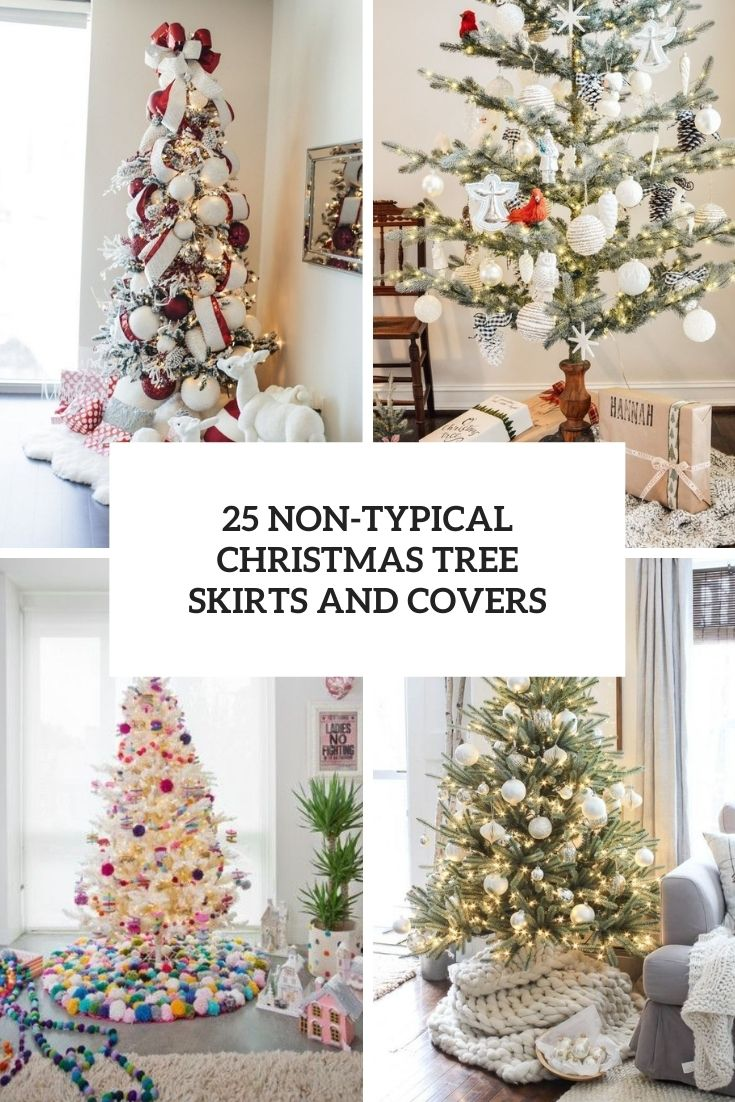25 Non-Typical Christmas Tree Skirts And Covers