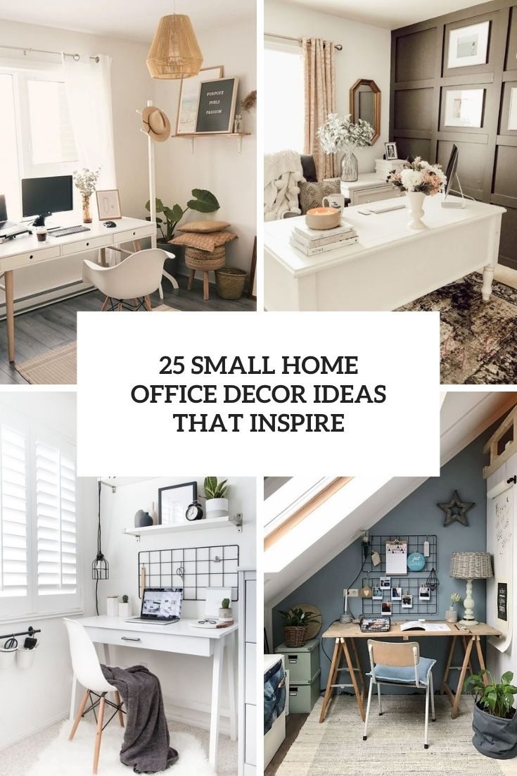 25 Small Home Office Decor Ideas That Inspire